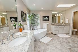 Marble Floor Bathroom